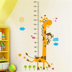 Removable  Height Chart Measure Wall Sticker Decal for Kids Baby Room Giraffe UP
