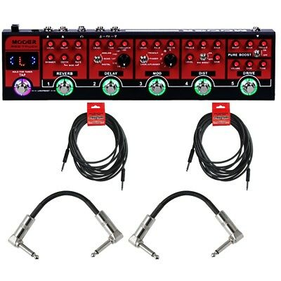 Mooer Red Truck Combines Guitar Effects Pedal with Cables +Picks