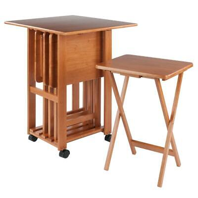 Sophia 5-pc Snack Table Set Teak