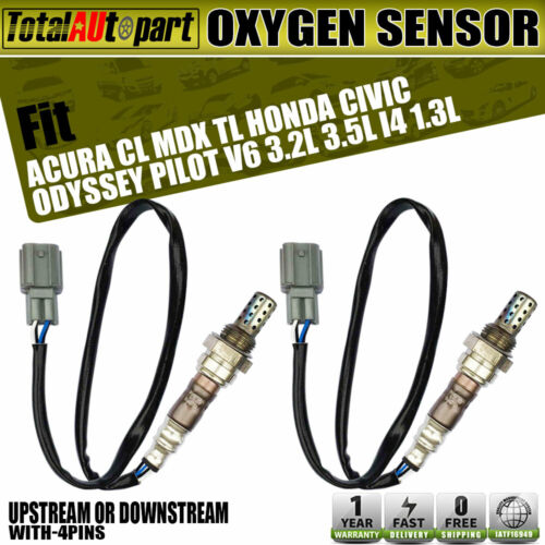 2x Oxygen Sensors For Acura Mdx Tl Honda Civic 2000