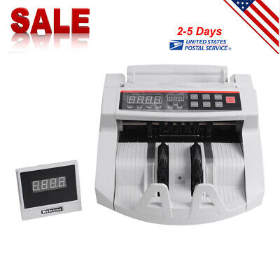 Led Bill Counter Money Counting Cash Machine Counterfeit Detector Uv Mg Bank