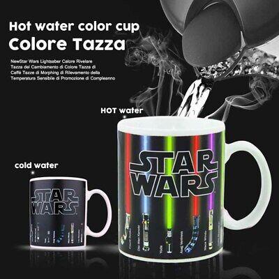 Star wars Topic Lightsaber Heat sensitive Color change Coffee mug cup fans gift.