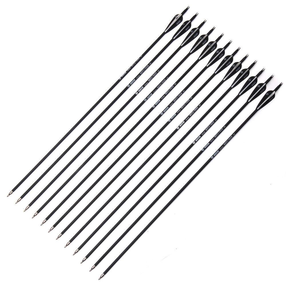 "Carbon Arrows6/12/24pcs 30""  Arrow 7.8mm OD Shaft Archery Fi"