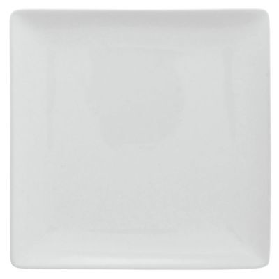 Front Of The House Mod Square Plate 0.5 H 12 W 12 L Porcelain White 4cs