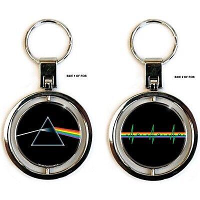Pink Floyd Dark Side of the Moon Metal Spinner Keyring (ro)