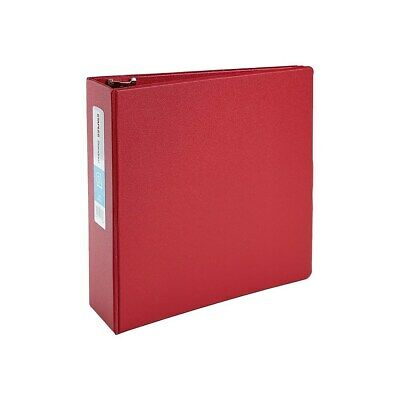 3 Staples Standard Binder With D-rings Red 976165