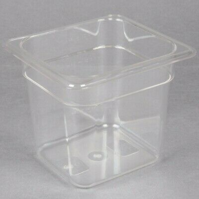 Restaurant Supply 2 Rubbermaid 16 Size Sixth Size Polycarbonate Food Panslids