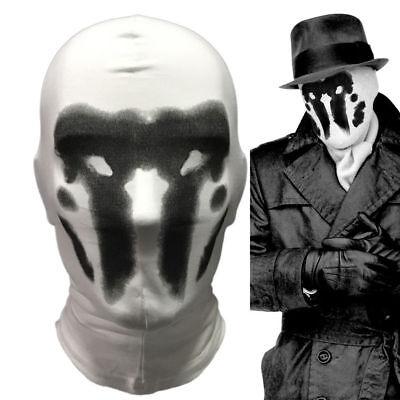 US SHIP WATCHMEN : Rorschach 's Mask Halloween Full Face Cosplay Lycra Prop (Rorschach Watchmen)
