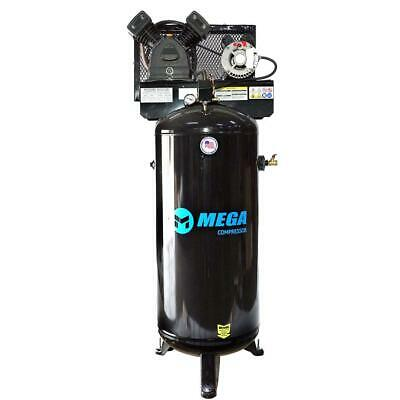 Mega Power Mp-6060vu 230v 3 Hp Vertical Air Compressor W Single Phase Motor