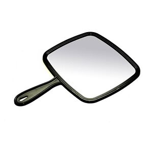 Hairdressing  Hand Held Mirror Black  with handle