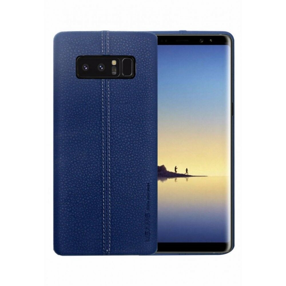CUSTODIA COVER ORIGINALE USAMS PER SAMSUNG GALAXY NOTE 8 SM-N950 PELLE JEANS BLU