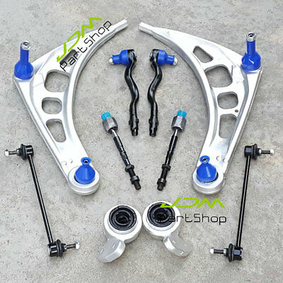 for BMW E46 3-Series Suspension Lower Control Arms Wishbone Bushes Tie Rod Kit