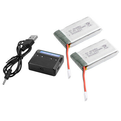 2pcs 1200mAh 3.7V Lipo Battery with Charger for Drone Syma X5S X5SW X5SC BC590