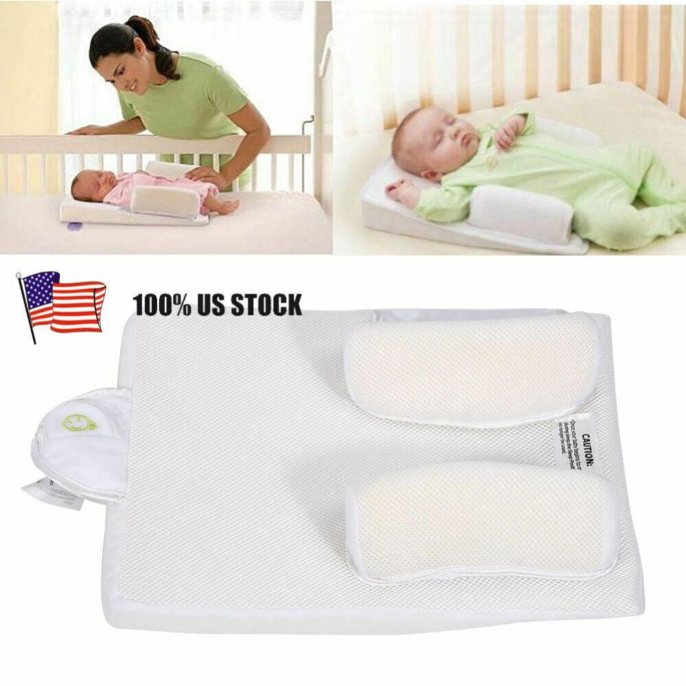 Adjustable Newborn Infant Baby Sleep Anti Roll Pillow Prevent Flat Head Cushion - $16.91