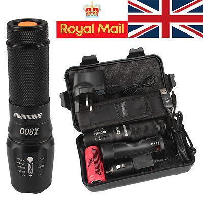 5000lm UK Genuine Shadowhawk X800 Tactical Flashlight LED Military Torch G700