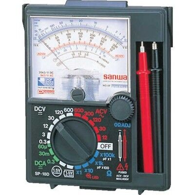 Sanwa Sp18d Analog Multi Tester Anti Shock Meter From Japan With Tracking