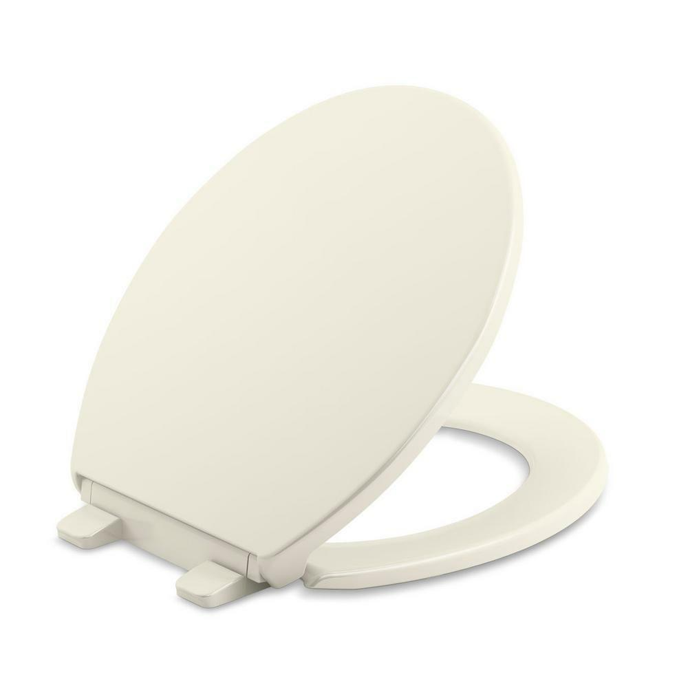 Amazing Details About Kohler Bathroom Round Closed Front Toilet Seat Cover Biscuit Quiet Soft Close Bralicious Painted Fabric Chair Ideas Braliciousco