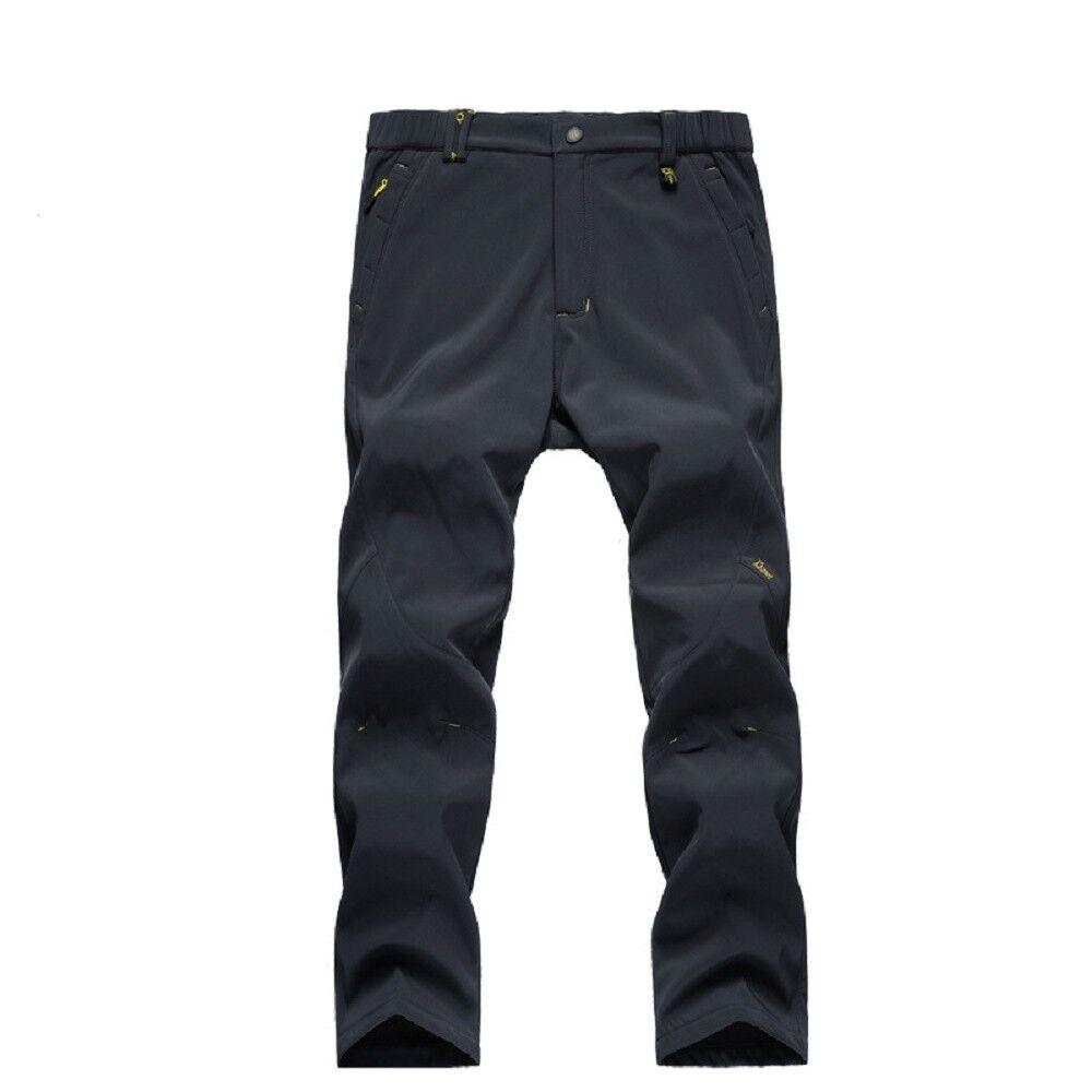 Men's Softshell Fleece Lined Warm Ski Pants Hiking Pants