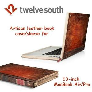 New Twelve South Rutledge BookBook for MacBook | Artisan leather book case/sleeve for 13-inch MacBook Air/Pro Condtio...