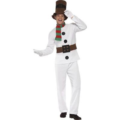 Smi - Herren Kostüm Schneemann Karneval Fasching - Herr Schneemann Kostüm