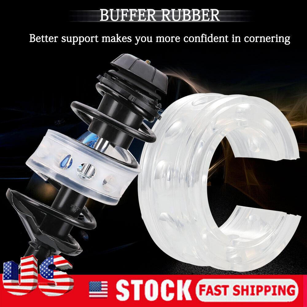 2Pcs White Car Rubber Shock Absorber Spring Bumper Buffer Power Cushion Type D