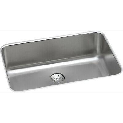 "Elkay Gourmet Undermount 26-1/2"" x 8"" Sink (SS) ELUH2416PD New"