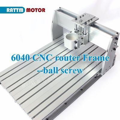 6040 Desktop Ball Screw Aluminum Cnc Router Frame Milling Machine Kit80mm Clamp