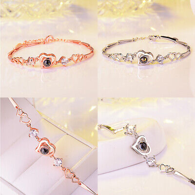100 Kinds Of I Love You Language Projection Bracelet Jewelry Gift Wedding Party](Kinds Of Party)