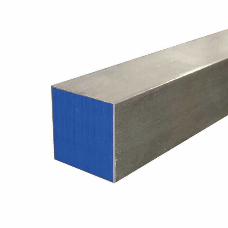 """304 Stainless Steel Square Bar, 1"""" x 1"""" x 36"""""""