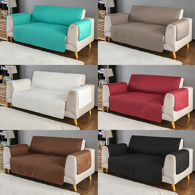 Quilted Sofa Cover Slipcover Waterproof Couch Pet Kid Pad Mat Protector Antislip Padded Pet Cover