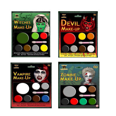 Halloween Special 7 Colors Face Paint Zombie, Devil ,Witch,Vampire Make Up Kit - Face Painting Devil Halloween
