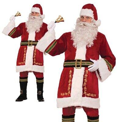 Deluxe Weihnachtsmann Klassisch Kostüm Weihnachtsmann Plüsch Kostüm - Klassische Mann Kostüm