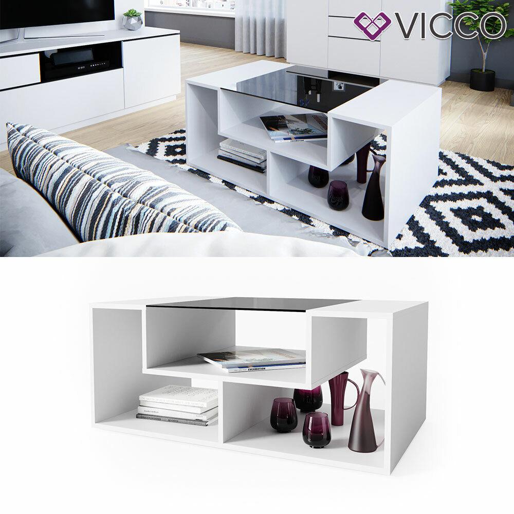 Vicco Table de salon Gabriel avec étagère table de café t