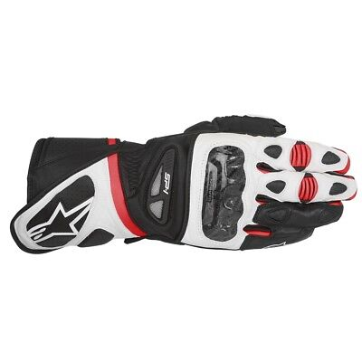 Alpinestars SP-1 Leather Motorcycle Motorbike Sports Gloves Black White Red (Alpinestars Sp1 Motorcycle Gloves)