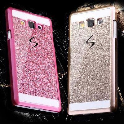 (Luxury Bling Glitter Hard Plastic Case Cover For Samsung Galaxy J1 2 3 5 7 E5 E7)