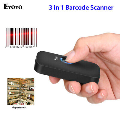 Eyoyo 2.4g Wireless Wired Bluetooth Barcode Scanner For Phone Android Phones
