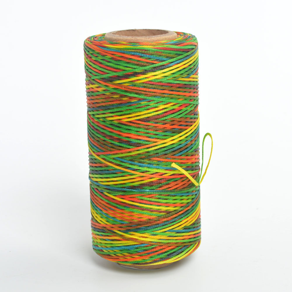 284yards 19 Colors 0.8mm Sewing Leather Waxed Thread Cord Leather Craft Rainbow Color