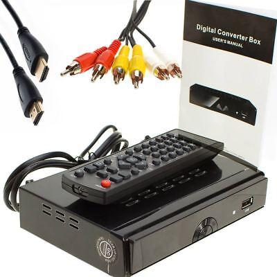 HDTV DTV Digital Converter Box USB Media Player Recording PVR HDMI TV Tuner  Digital Converter Box Hdtv