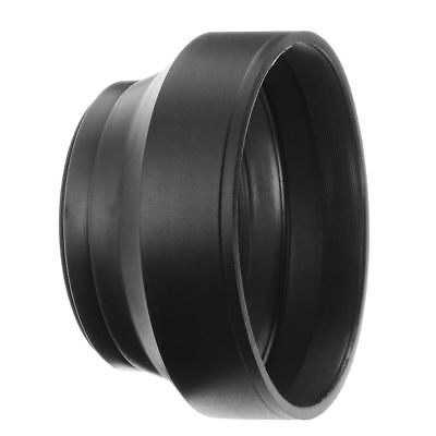 77mm 3in1 3-Stage Collapsible Rubber Lens Hood Shade For Canon Nikon Sony Camera Collapsible Rubber Lens