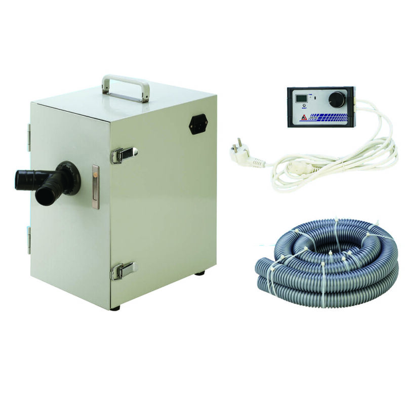 Dental Lab Digital Twin-impeller Dust Collector Vacuum Cleaner W/ 2 Suction 550W