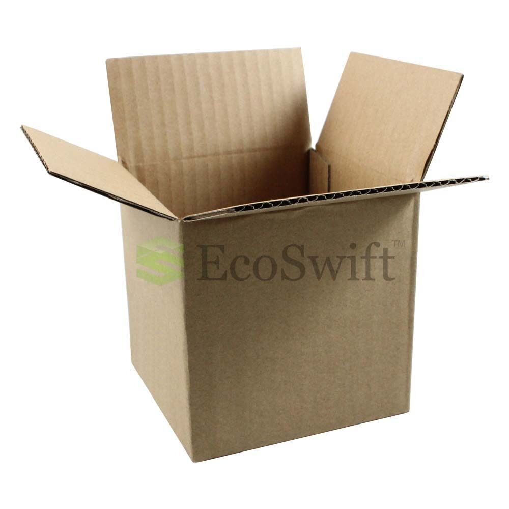 50 EcoSwift 7x5x4 Corrugated Cardboard Shipping Boxes Mailing Moving Packing Carton Box 7 x 5 x 4 inches