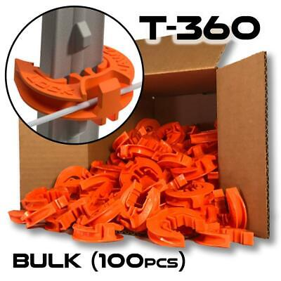 Lockjawz Bulk Electric Fence T Post Insulators - Orange T-360