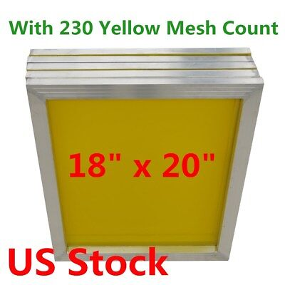 6pcs 18 X 20 Aluminum Silk Screen Printing Frame With 230 Mesh Count - Usa