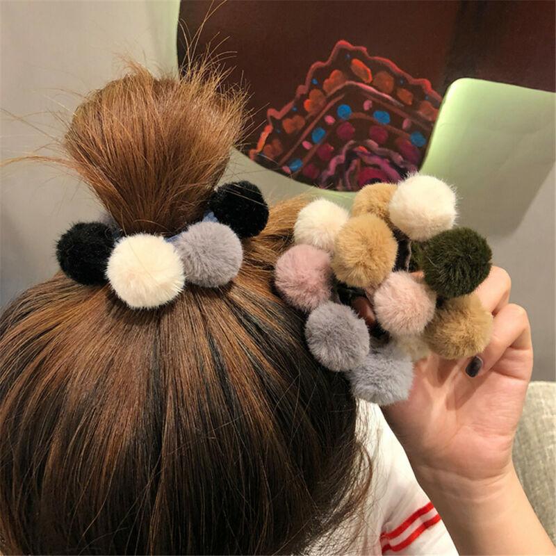 Elastische Haarbänder Schleifen mit Ribbon Velvet Scrunkhies Seil für Haare