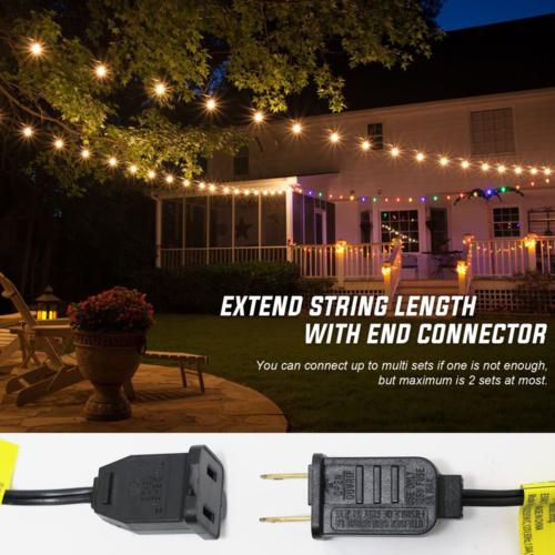 100 FT Globe Outdoor String Lights G40 Globe Bulbs Indoor Ya