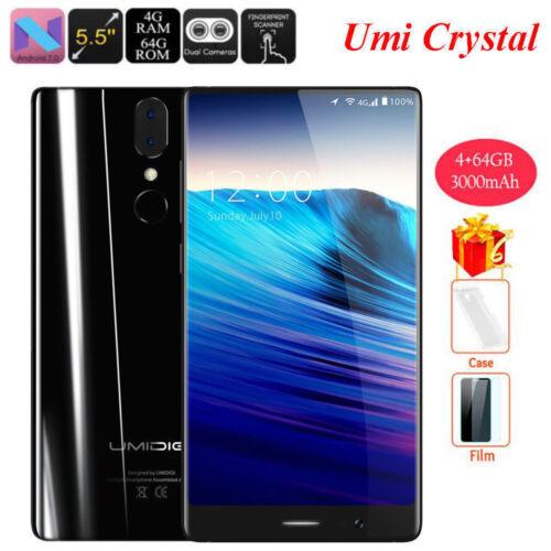 Sbloccato umidigi CRISTALLO 5.5'' 4GB + 64GB 4G Phablet Android 7.0 OCTACORE