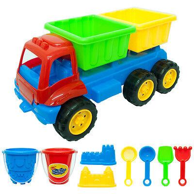 9 Piece Dump Truck Set Sand Pit Castle Beach Water Garden Kids Children