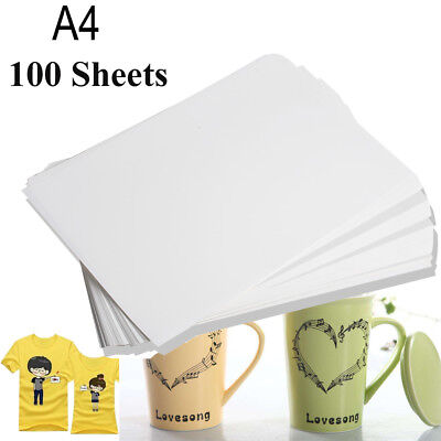 100sheet A4 Sublimation Ink Heat Transfer Paper For Mug Polyester Cotton T-shirt