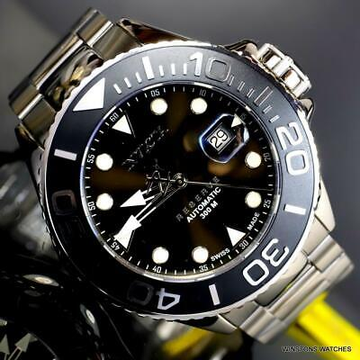 Invicta Reserve Grand Diver Swiss Made Automatic Steel 50mm Black Watch New Diver Swiss Made Watch