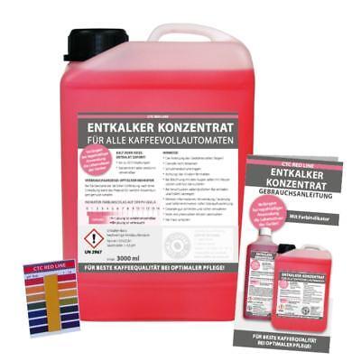 3 Liter Entkalker Konzentrat, Indikator, alle Kaffeevollautomaten, incl. pH-Test